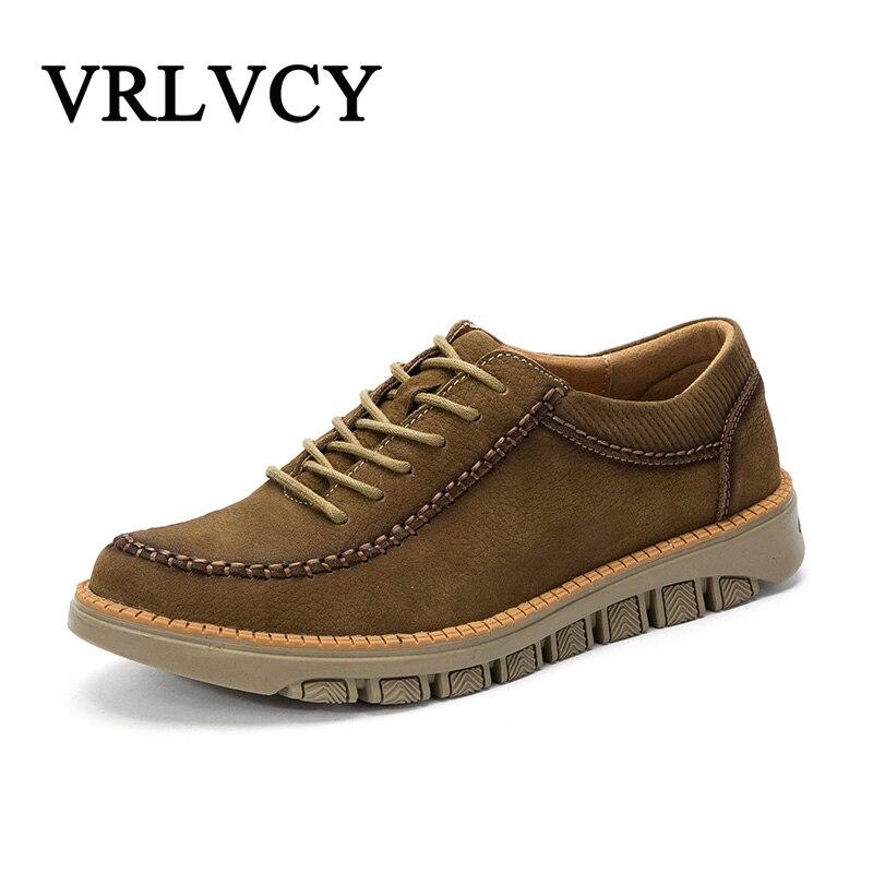Brand Genuine Leather Fashion Men Shoes Handmade Spring Summer Brand High Quality Men Flats Shoes