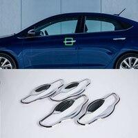 Oubolun abs exterior peças de carro kits corpo do carro porta alça tigela capa para hyundai 2017 accent/verna|Estilo de cromo| |  -
