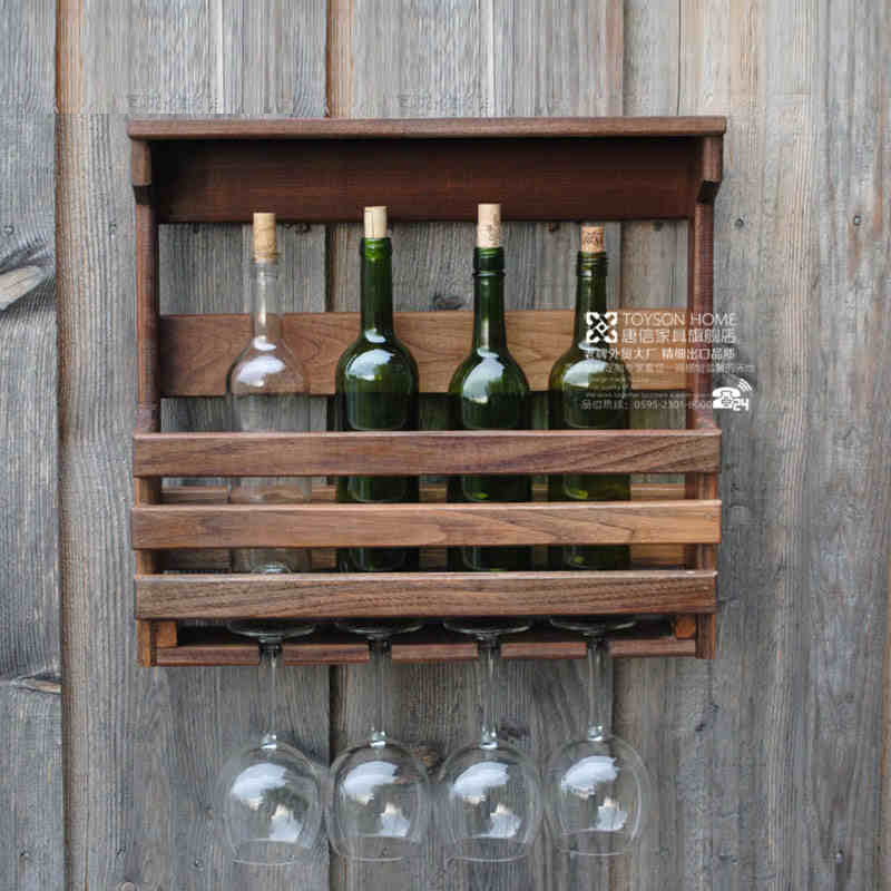 Wall hanging wall wine racks wood wall wine rack Hanging wooden wine rack