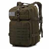 45L Große Kapazität Mann Armee Taktische Rucksäcke Military Assault Taschen Outdoor 3P EDC Molle Pack Für Trekking Camping Jagd tasche