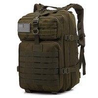 45L большой емкости мужские армейские тактические рюкзаки военные штурмовые Сумки на открытом воздухе 3 P EDC облегченная модульная система пе...