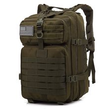 45L Large Capacity Man Army Tactical Backpacks Military Assault Bags Outdoor 3P EDC Molle Pack For Trekking Camping Hunting Bag(China)