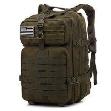 45L большой ёмкость человек армия тактический рюкзаки Военная Униформа нападение сумки Открытый 3 P EDC Молл пакет для треккинга Кемпинг Охота сумка