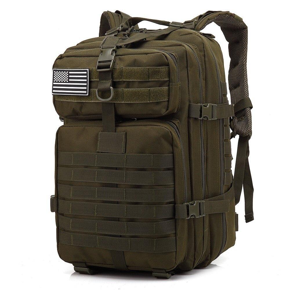 45L, gran capacidad, mochilas tácticas para hombre, ejército, bolsas de asalto militares, al aire libre, 3P, EDC, Molle, paquete para senderismo, Camping, bolsa de caza