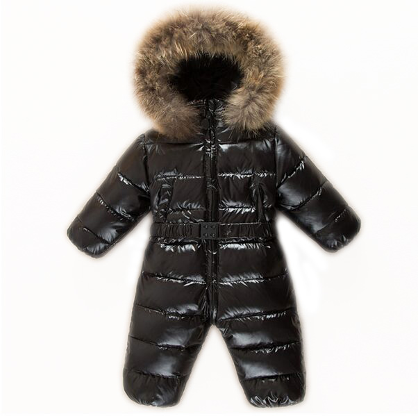 b25bfc093 Winter jumpsuit Romper baby clothes boys warm snowsuit infant snow wear  Real Fur Overalls Girls hoodies Ski Costume clothing-in Snow Wear from  Mother & Kids