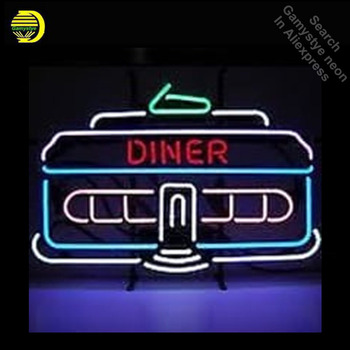 Neon Restaurant Signs Neon Sign Diner Hotel Business Neon Light Sign Bulbs Store Display Glass Tube Quality Handcraft dropship