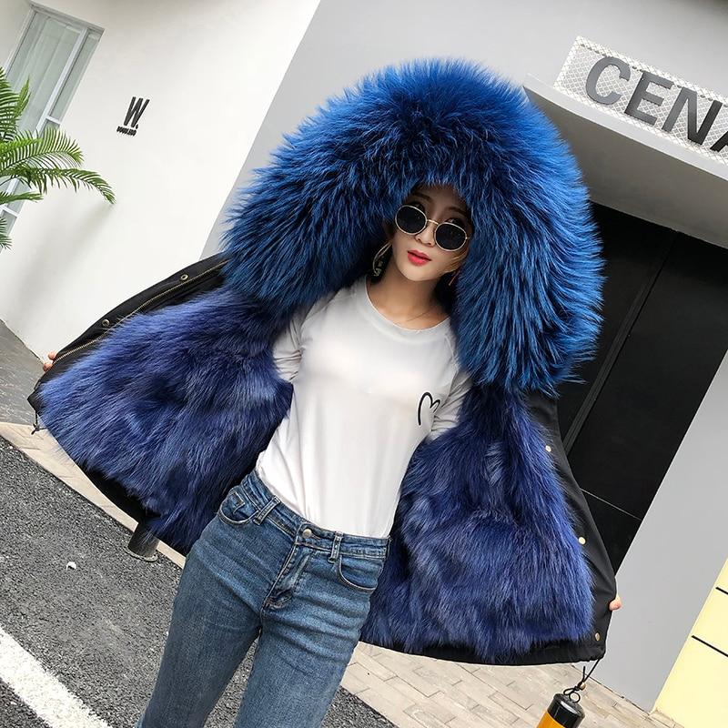 Mode femmes fourrure courte pour surmonter raton laveur poilu veste intérieure pour surmonter la veste à capuche