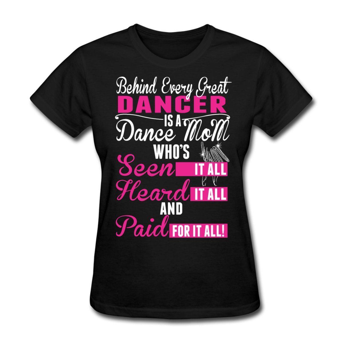 Danza Danza Mamma Divertente Preventivo T-Shirt da Donna Marca Divertente  Cotone Hipster Maglietta di b82d5ab54b1