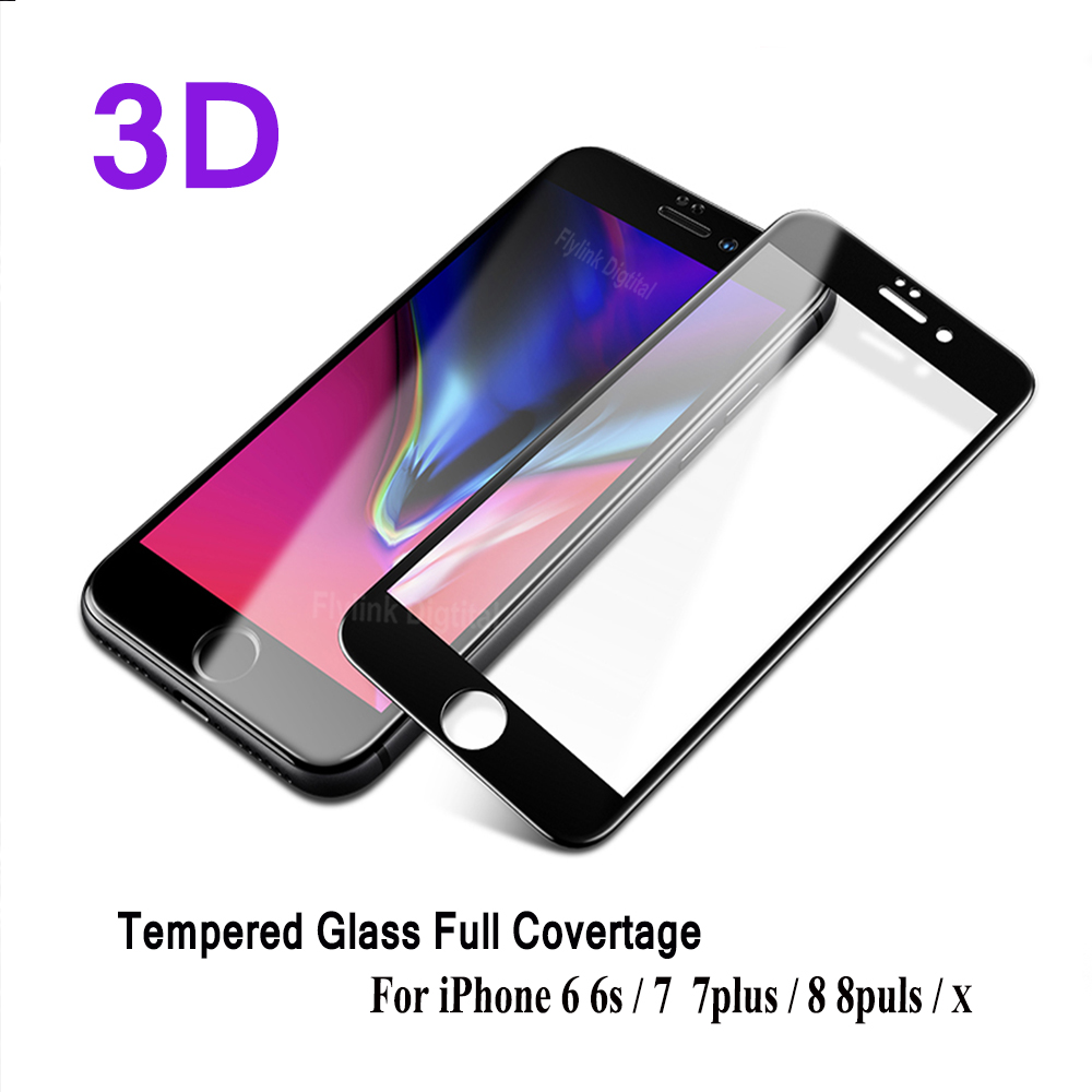3D Curved Edge Full Cover Screen Protector For iPhone 6 6S 7 8 Tempered Glass On The For iPhone 6 s 7 Plus Protective Glass Film3D Curved Edge Full Cover Screen Protector For iPhone 6 6S 7 8 Tempered Glass On The For iPhone 6 s 7 Plus Protective Glass Film