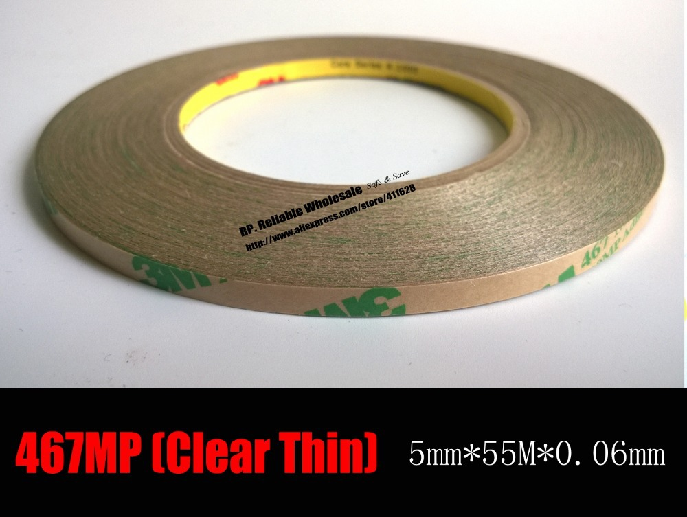 0.06mm Thickness, (5mm*55 meters) Ultra Thin <font><b>3M</b></font> 467MP <font><b>200MP</b></font> Double Sided Sticky Tape for Cameral Lens, Graphic Attachment image