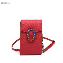 Luxury Designer Brand Bags Women PU Leather Handbags Big Functions Utility Mini Cell Phone High Quality Shoulder Bags
