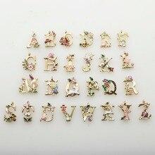 Accesorios de costura de aleación decorativa de artesanía de 26 letras para ropa DIY hecho a mano Scrapbook artesanal decorativo