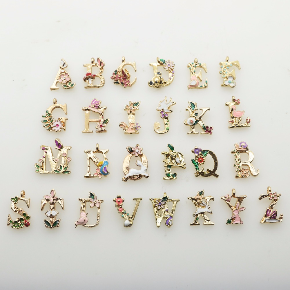 Cute 26-Letter Craft Decorative Alloy Sewing Accessories For Clothing DIY Handmade Scrapbook Craft Decorative