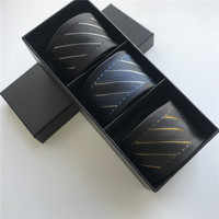 3 Pieces/Set Popular Men Necktie Contrast Knot High Quality Grids Striped Ties Cravat with Gift Box