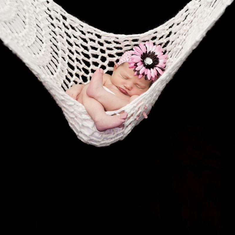 Haphood Häkeln Weiß Hängematte Neugeborenen Baby Fotografie