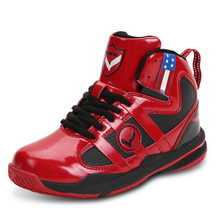 2017 Children basketball Shoes  Leather Waterproof Sport Breathable Sneakers sport shoes