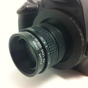 Image 3 - Fujian 35mm f/1.7 CCTV cine obiektyw do kamery M4/3/MFT Mount + pierścień pośredniczący c m4/3 kaptur do aparatów Olympus Panasonic Micro 4/3