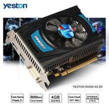 Yeston Radeon RX 550 GPU 4 Гб GDDR5 128bit игровой настольный компьютер ПК видео Графика карты поддерживают DVI-D/HDMI2.0B PCI-E 3,0