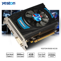 Yeston Radeon RX 550 GPU 4GB GDDR5 128bit Gaming Desktop computer PC Video Graphics Cards support DVI D/HDMI2.0B PCI E 3.0