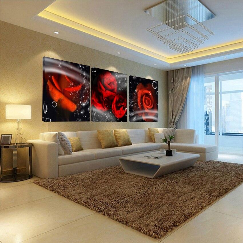 Fantasy Home Decor: Home Decor Decoration Bedroom Fantasy Rose Picture 3 Piece