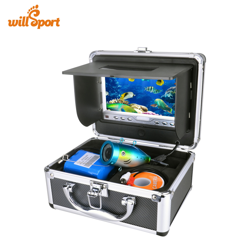 Portable Delux Kit  Underwater Fishing Camera Video Fish Finder DVR HD 600TV Lines 15M Version Usage Time 7