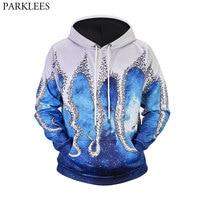 Space Galaxy Hoodies Men Women 3D Funny Octopus Print Sweatshirts 2018 Casual Mens Hoodie Tracksuit Hip Hop Harajuku Sweat Homme