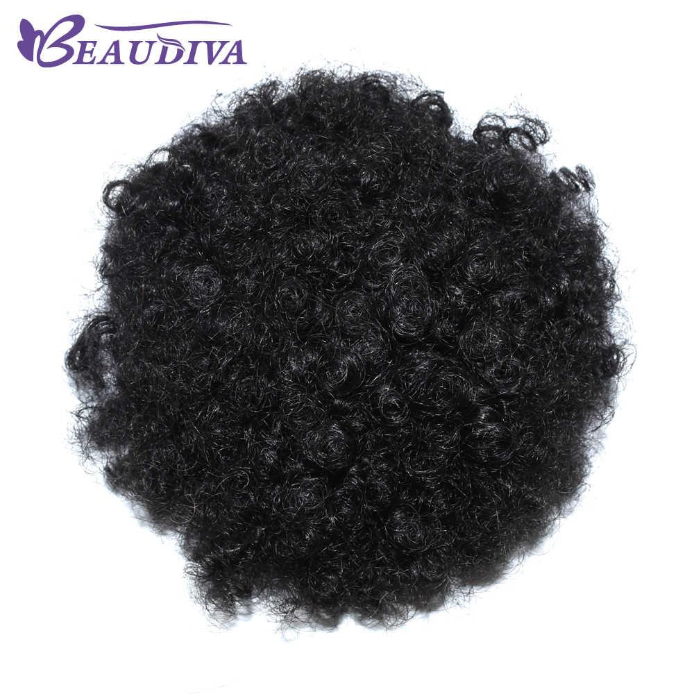 Афро кудрявый конский хвост для женщин натуральные черные неэромные волосы 1 шт. зажим в хвостиках шнурок 100% человеческие волосы BeauDiva