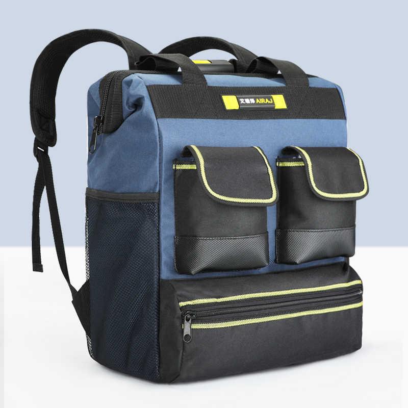 Многофункциональный рюкзак для инструментов AIRAJ, сумка для инструментов 16 дюймов/18 дюймов, Большая вместительная сумка электрика, сумка для хранения инструментов