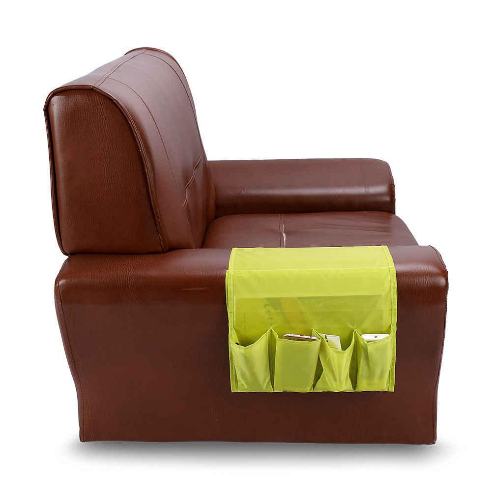 4 bolsos Titular Organizador Pendurado Saco de Armazenamento de Controle Remoto Sobre a Poltrona Sofá Para Sala de estar Em Casa De Armazenamento Cabide