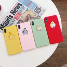 Phone Case For iPhone 7 6 6s 8 X Plus Cases XR XS Simple Solid Color Ultrathin Soft silica gel Candy Back Cover