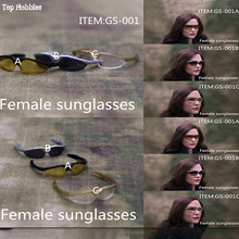 "1/6 Scale Doll Sunglasses Women Glasses Windproof Goggles GS001A+B+C+D+E 5 Styles Model for 12"" action figure Scene accessories(China)"