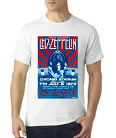 Led Zeppelin Chicago Stadium 1973 Poster T Shirt