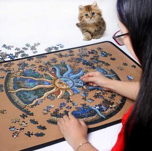 Image 3 - iPiggy Landscape 500 Pieces Zodiac Horoscope Puzzle Toys Collection DIY Constellation Jigsaw Paper Puzzles home decoration
