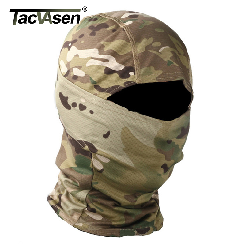 TACVASEN Tactical Camouflage Balaclava Full Face Mask Wargame Hunt Shoot Army Bike Military Helmet Liner Combat Airsoft Gears(China)