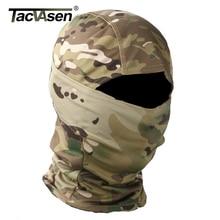 TACVASEN Taktische Camouflage Balaclava Full Face Maske Wargame Jagd Schießen Armee Bike Military Helm Liner Kampf Airsoft Getriebe