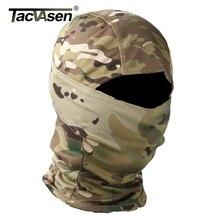 Tacvasen máscara camuflada militar, máscara facial completa para jogo de guerra e caça, exército, forro de capacete para combate