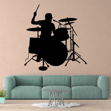 Hot Drums Wall Sticker Self Adhesive Vinyl Waterproof Wall Art Decal Decor Living Room Bedroom Removable Decal Creative Stickers цена