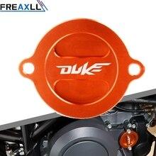 купить Motorcycle Accessories Engine Oil Filter Cover Wheel Tire Caps For KTM logo DUKE 200 390 690 690 SMC/R RC200 390 Accessories дешево