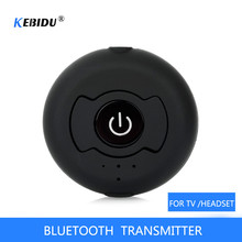 Multi point AUX 3.55mm Wireless Audio Bluetooth Transmitter Music Stereo Adapter For TV Smart PC DVD MP3 Bluetooth 4.0 double