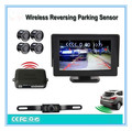 "Wireless car rearview video parking system,Auto wireless reverse camera&backup parking sensor 4.3"" rear view monitor Assistance"