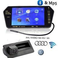 Wireless Parking auto hd 7 inch Monitor FM MP5 Bluetooth mirror & BACKUP CAMERA FOR AUDI VW PASSAT LAVIDA SHARAN GOLF camera
