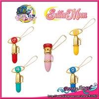 Japanese Anime Original Bandai Sailor Moon Crystal Gashapon Henso & Henshin Pen Mascot Charm Key Chain Set
