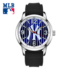 MLB NY series fashion sport lover' watch luminous waterproof wristwatch silicone band  quartz  for men and women watches SD010