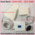 Dual Band 2G 4G Signal Repeater for Cell phone Amplifier, GSM Signal Booster 850 1800, 3g Repeater for Mobile Signal Amplifier