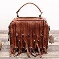 Bolsas de grife de alta qualidade tronco head camada couro retro pequeno saco de couro genuíno bolsas tote do vintage macio & crossbody sacos