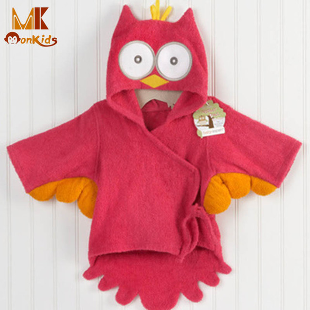 Monkids 2017 Baby Towel Hooded Bathrobe Cartoon Design Baby Towel Beautiful Baby Towel Infant Bathrobe Soft Cotton Comfortable