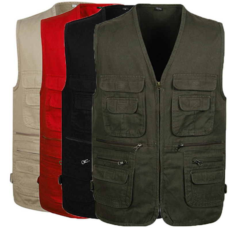 Men's Fishing Vests Multi Pocket Mesh Photography Outdoor Jackets Hunting Sport Hiking Vest Fish Waistcoat  Chaleco