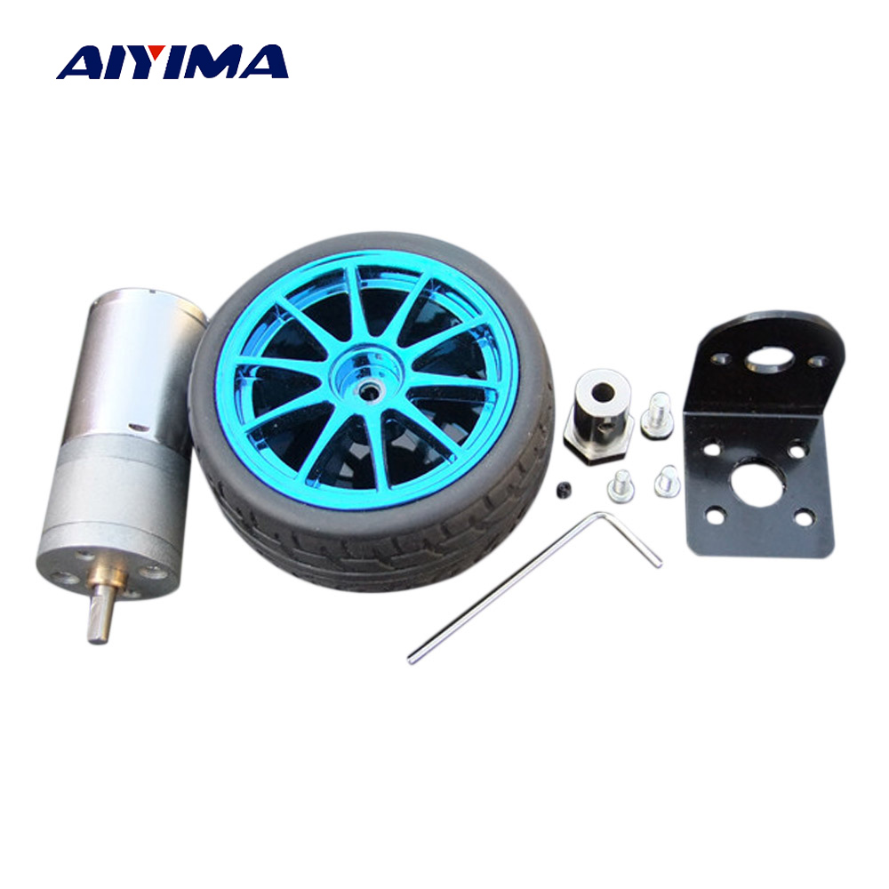 цена на Aiyima DC 6V 100RPM Gear Motor Intelligent Robot Trolley Motor High Torque Motor All-metal Gear Robo Reducter