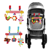 Baby Plush Animal Rattle Mobile Infant Stroller Bed Crib Spiral Hanging Toys Music Gift for Newborn Children 0 12 Months