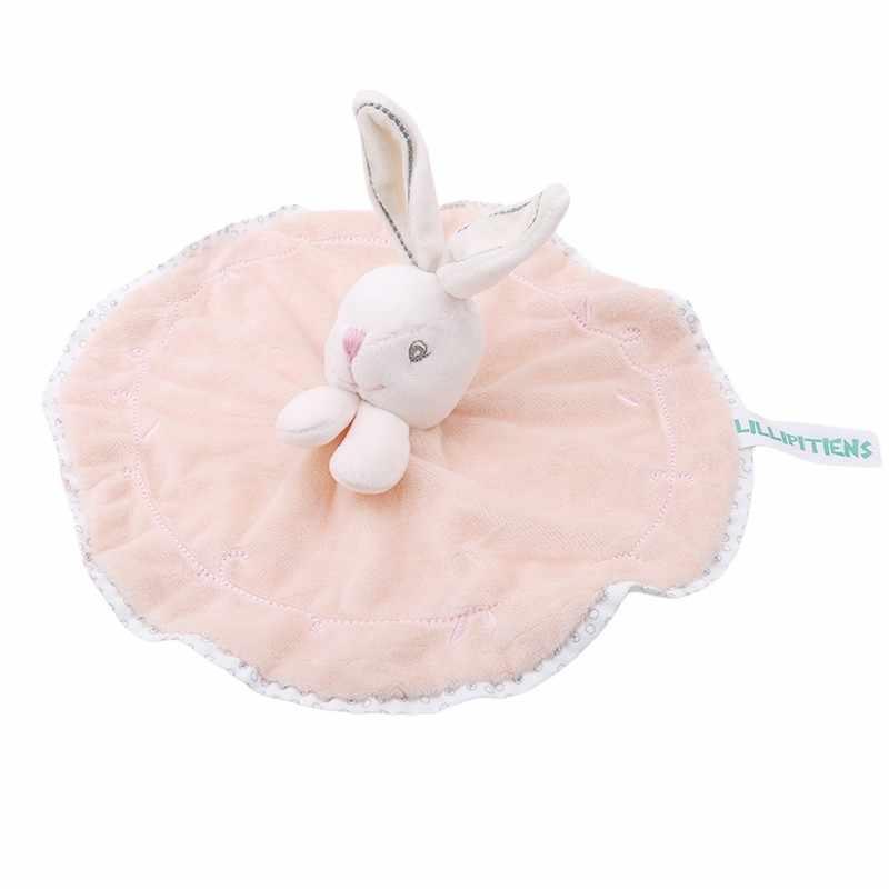 Bonito pelúcia coelho boneca brinquedos bebê chupeta coelho calmante toalha infantil cobertor de segurança macia dormir amigo